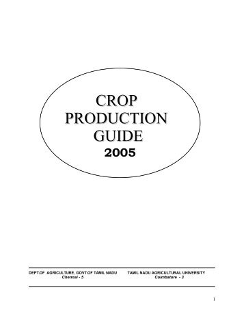 Crop Production Guide - TNAU