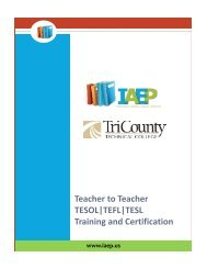 Teacher to Teacher TESOL|TEFL|TESL Training and Certification