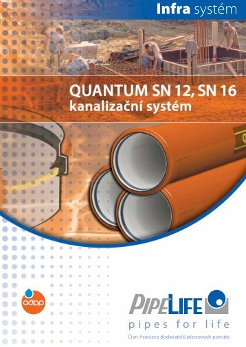kanalizační potrubí pvc quantum sn12, sn16