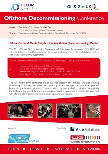 Offshore Decommissioning Conference - Decom North Sea