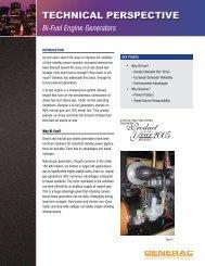 Bi-Fuel Engine Generators - Wolter Power Systems