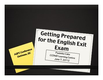 English Exit Exam, Phase 3 Exercises - AQPC