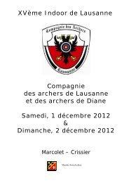 Indoor Lausanne 2012.pdf - Compagnie des Archers de Lausanne