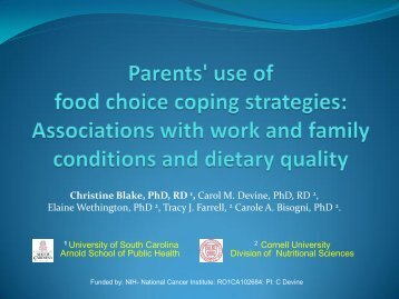 Food Choice Coping Strategies - Center for Research in Nutrition ...