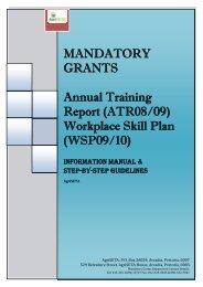 MANDATORY GRANT APPLICATION: Annual Training ... - AgriSETA