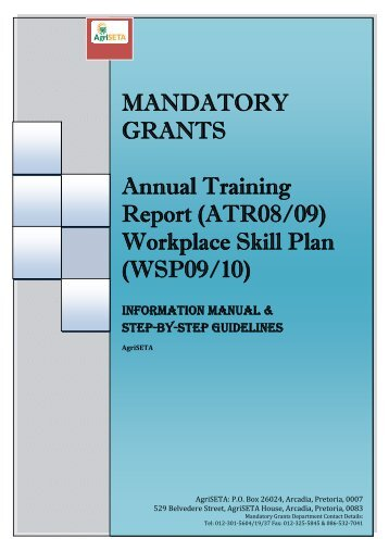 MANDATORY GRANT APPLICATION: Annual Training ... - AgriSETA