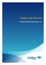 Galileo Low Cost Air - Travelport Support
