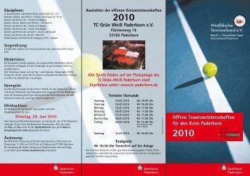 Offene Tennismeisterschaften für den Kreis Paderborn 2010