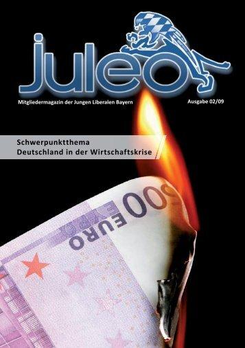 Schwerpunktthema Deutschland in der Wirtschaftskrise - JuLis Bayern