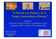 G. Casella, Il Paziente con Diabete e SCA - Anmco