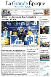 Chine : les tambours des démissions sonnent à Paris - Epoch Times
