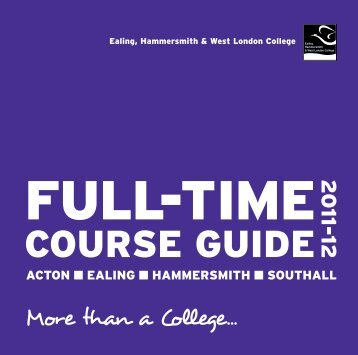 Full-time Courses - Ealing Hammersmith & West London College