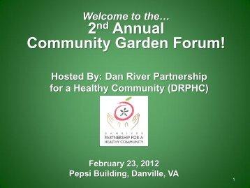Community Gardens - Dan River Partnership for a Healthy Community