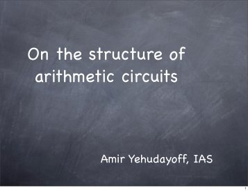 amir_yehoudayoff_slides - Center for Computational Intractability