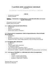 Il portfolio delle competenze individuali