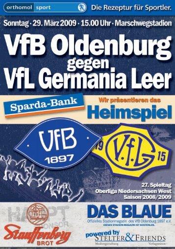 Freitag, 27. März 2009 Die VfB-Pressekonferenz ... - VfB Oldenburg