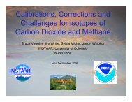 Calibrations, Corrections and Challenges for isotopes of Carbon ...