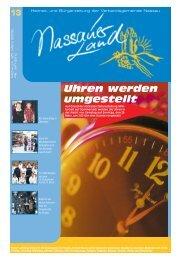 Mitteilungsblatt Ausgabe 13 - 2009 - Verbandsgemeinde Nassau