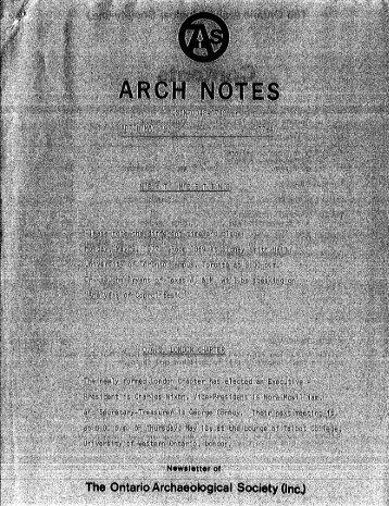 4 - Ontario Archaeological Society