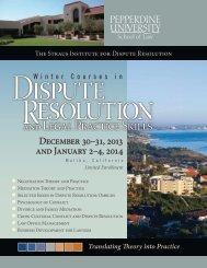 December 31 January 2–5, 2013 - Pepperdine University School of ...