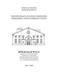 Police Station Feasibility Study - Town of Weston