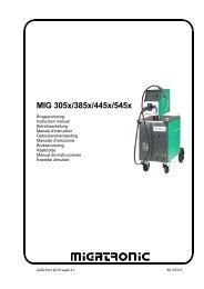 MIG 305x/385x/445x/545x - STS Schweißtechnik GmbH und Co.Kg