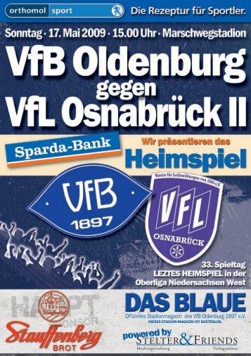 Ich mache nie VORAUSSAGEN und werde DAS ... - VfB Oldenburg