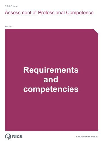 Requirements and competencies - RICS