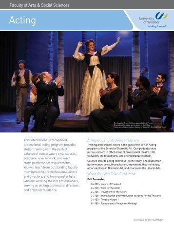 Acting Publication - University of Windsor