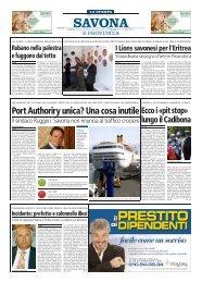 Rassegna Stampa - Lions Club Savona Torretta