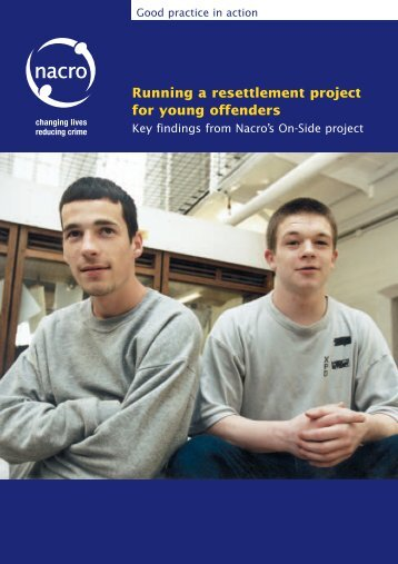 Running a resettlement project for young offenders - Nacro