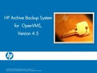 HP Archive Backup System for OpenVMS, Version 4.5