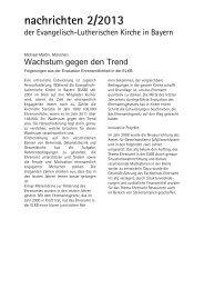 nachrichten 2/2013 - ehrenamt - evangelisch - engagiert
