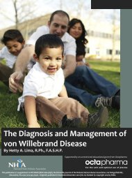 The Diagnosis and Management of von Willebrand Disease - NHIA
