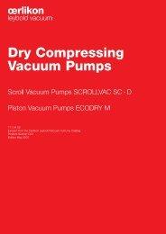 Dry Compressing Vacuum Pumps