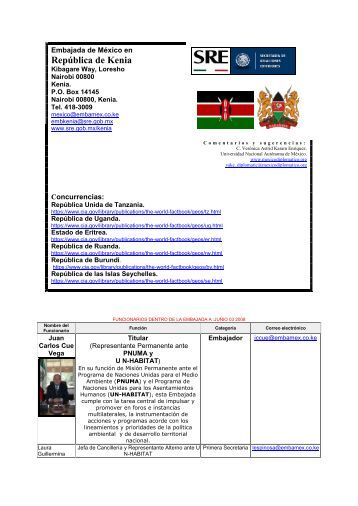 Embajada de México en Kenia - México Diplomático