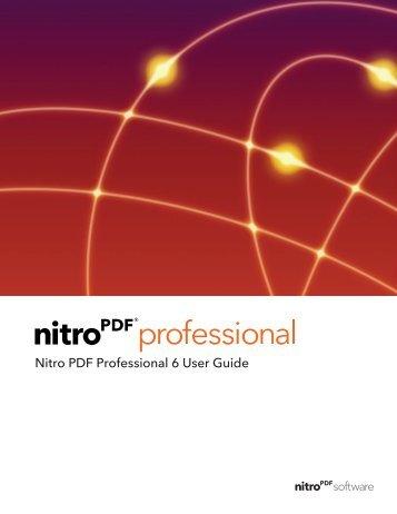Nitro PDF Professional 6 | User Guide