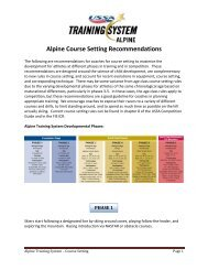 Alpine Course Setting Recommendations - US Ski Team