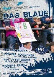 Arminia Hannover - TSV Ottersberg - Kickers Emden - VfB Oldenburg
