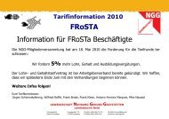 FRoSTA Information für FRoSTa Beschäftigte