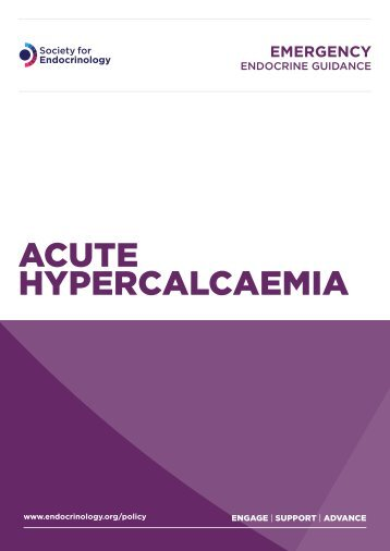 Acute hypercalcaemia - Society for Endocrinology