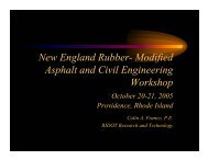 New England Rubber- Modified Asphalt and Civil Engineering ...