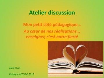 Alain Huot (C1) - Le rôle des coordonnatrices - aeesicq