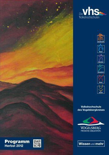 vhs Programmheft Herbst 2012 Download - Volkshochschule des ...