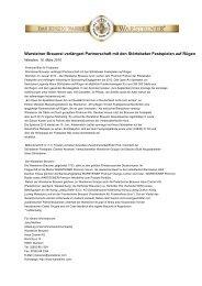 Warsteiner Brauerei verlängert Partnerschaft mit den Störtebeker ...