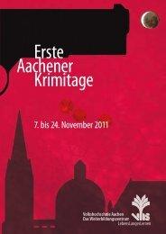 Erste Aachener Krimitage - Volkshochschule Aachen