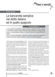 La bancarotta semplice nel diritto spagnolo e in quello italiano