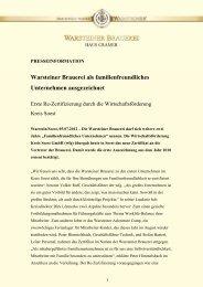 Warsteiner Brauerei als familienfreundliches ... - Warsteiner Gruppe