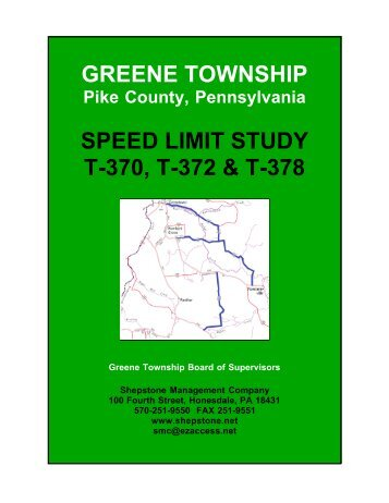 Greene Township Speed Limit Study - Shepstone Management ...