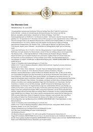 Der Warstein-Code - Warsteiner Gruppe